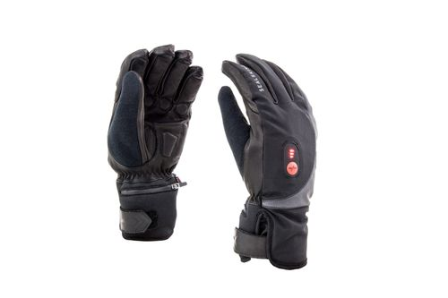 SS COLD WEATHER HEATED CYCLE GLOVE-BLACK/RED-M