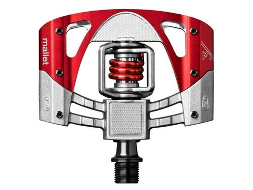 Crankbrothers pedaal mallet 3 raw & rood / rode ve