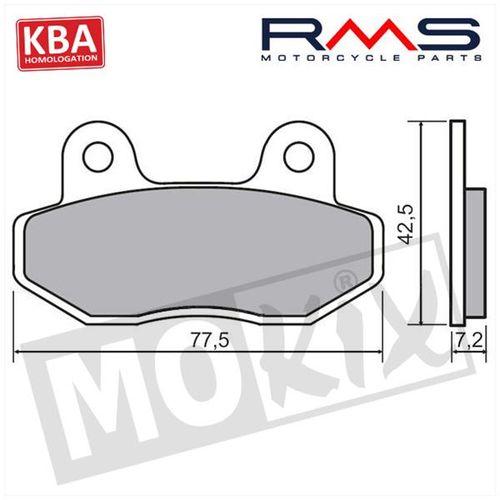 Remblokset Peugeot Speedfight3/Kymco/MikuMax RMS