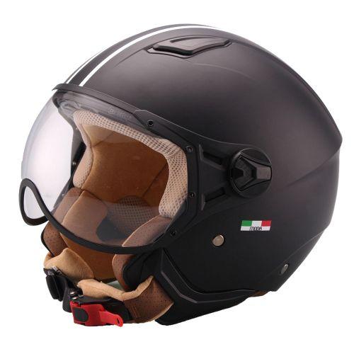 Helm Vito Moda Jet Zwart-Mat/Bruin - XS