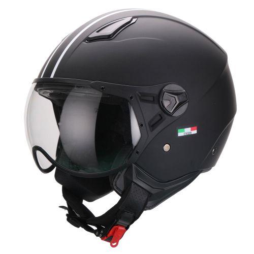 Helm Vito Moda Jet Notte Zwart-Mat - M