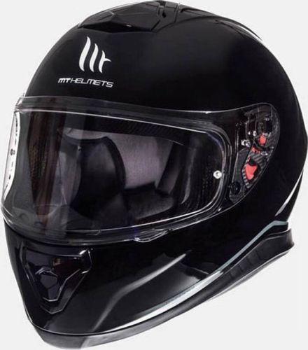 Helm MT Thunder III SV Solid Zwart Glans - L