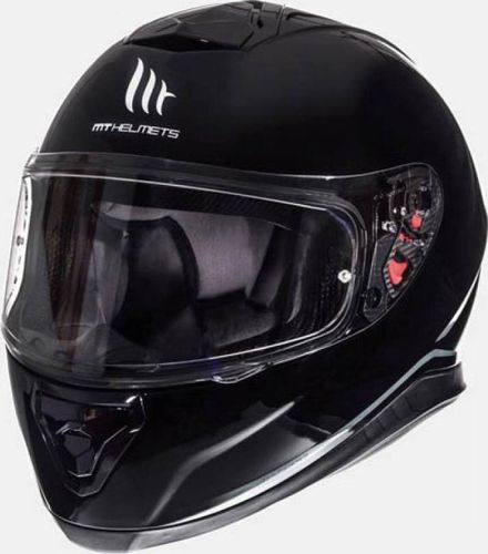 Helm MT Thunder III SV Solid Zwart Glans - XL