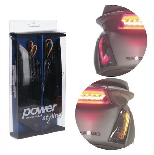 Knipperlicht Set Piaggio Zip Achter LED Smoke Matrix Flow 2.0 Power1