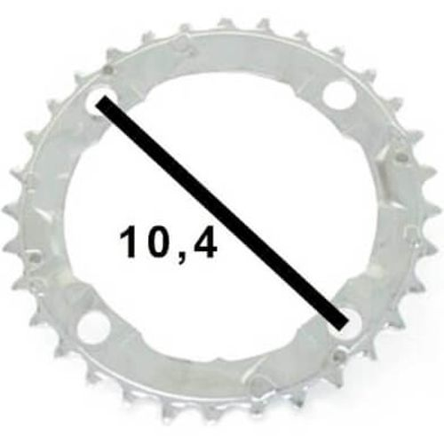 Shimano kettingblad 32t alivio fc-m341 104bcd zilv