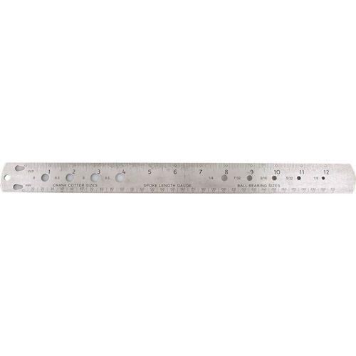 Icetoolz spaken-/meetlat 33cm RVS