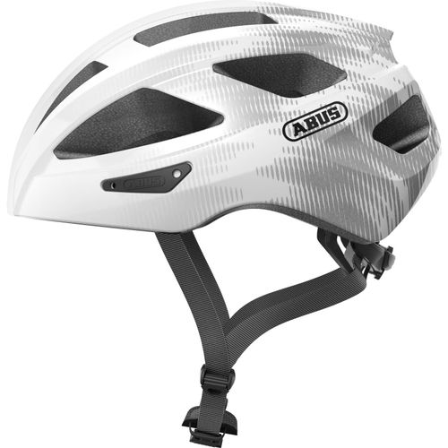 Abus helm Macator white silver S