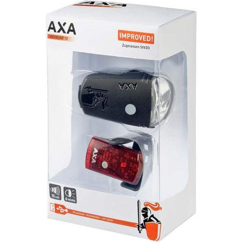 Axa verl set Greenline 15 Lux Usb