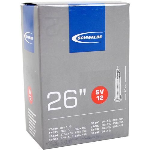 Schwalbe binnenband SV12 26 x 1 1/4 - 27.5 x 1.75 fv 40mm