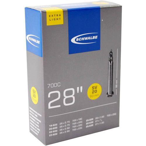Schwalbe binnenband SV20 Extra Light 28 x 0.75 - 1.00 fv 60mm