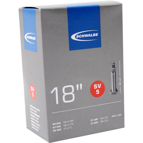 Schwalbe binnenband SV5 17 x 1 1/4 - 18 x 1.75 fv 40mm