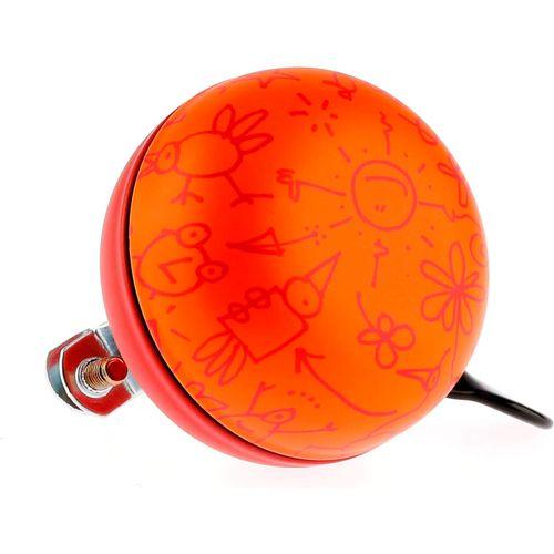 Fietsbel Ding Dong Upside Down 60 mm - mat oranje