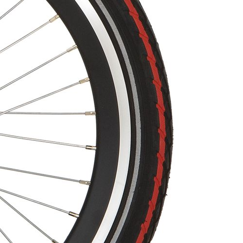 Deli Tire buitenband SA-206 20 x 1.75 zwart rode streep refl