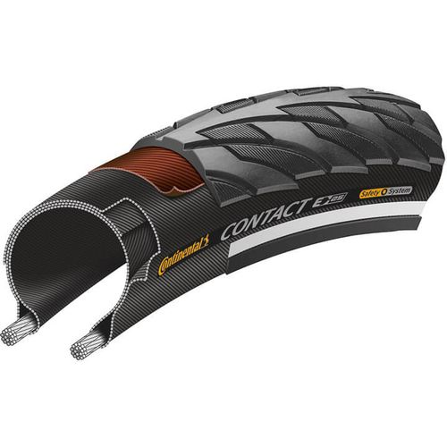 Continental bub contact 700x28c (700c) 28-622 refl zwart