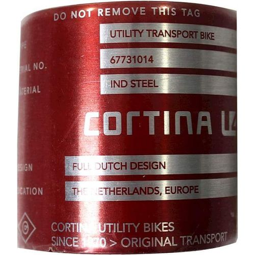 Cortina frame tag U4 Industries