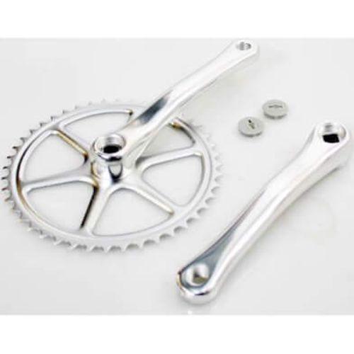 Lasco crankset spieloos 44t aluminium 3/32 zilver