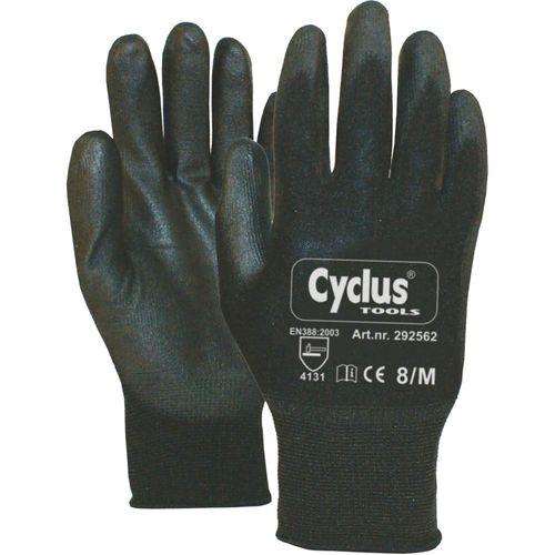 Cyclus handschoenen werkplaats maat m / 8 gele ran