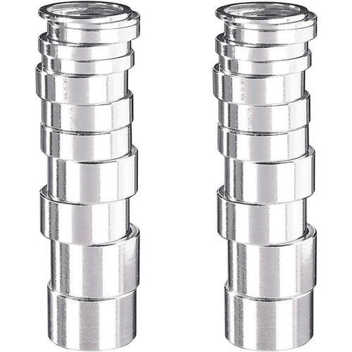 Balhoofddl spacer 1 1/8 aluminium zilver box assorti