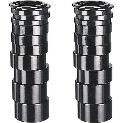 Humpert spacer balhoofd 1 1/8 aluminium zwart box