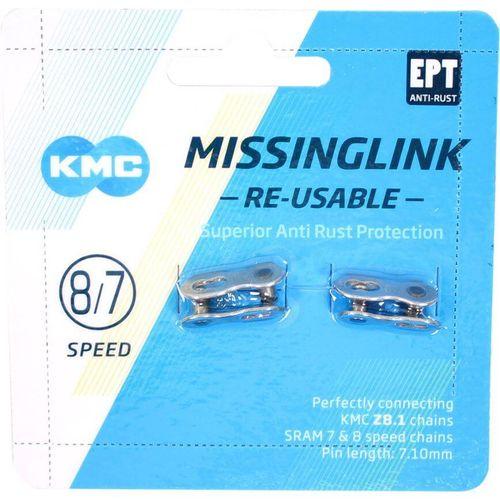 Kmc kettingschakel missinglink 7/8r ept zilver 7,1