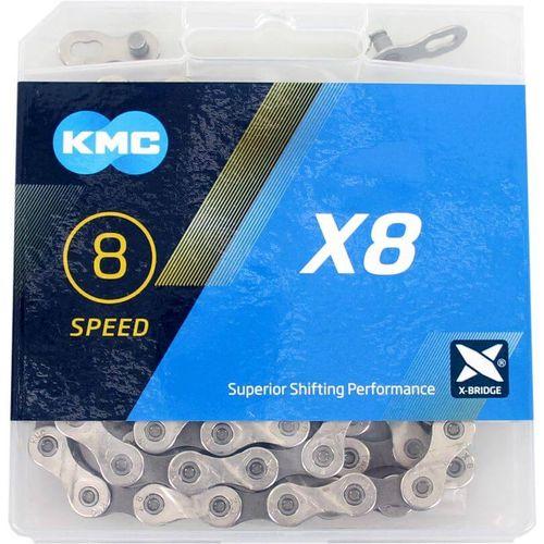 Kmc ketting 8-speed x8 114 links zilver/grijs