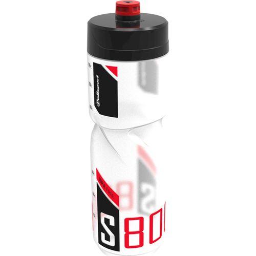 Polisport bidon s800 transparant zwart/rood