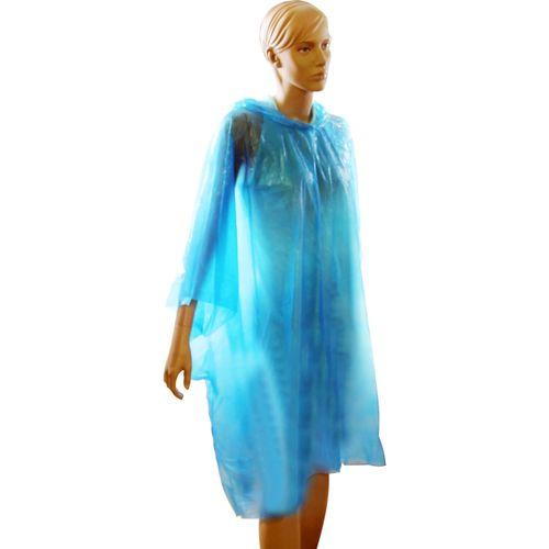 Poncho plastic blauw