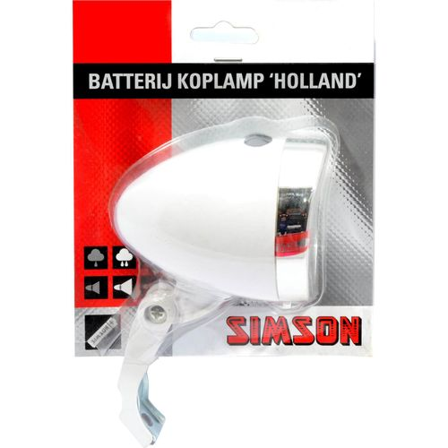 Lamp v led batterij 3led holland wit 020772