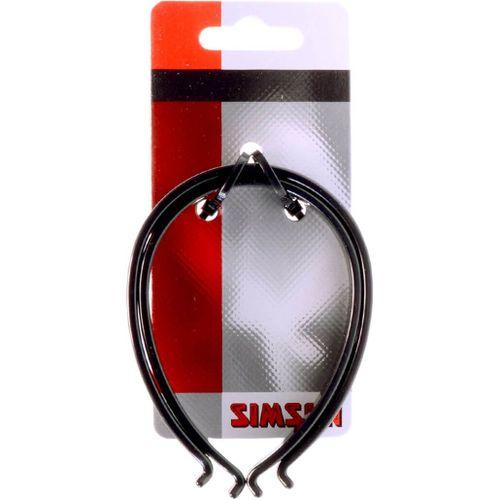 Simson broekklem kunststof reflectie zwart