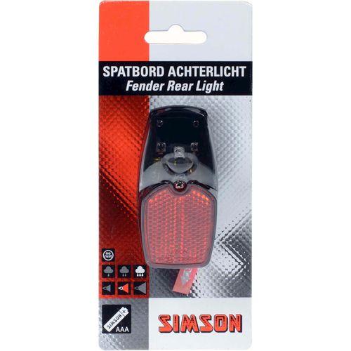 Simson achterlicht led batterij spatbord