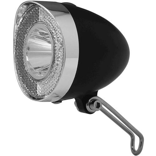 Union koplamp UN-4915 Retro batterij 20 lux zwart op kaart
