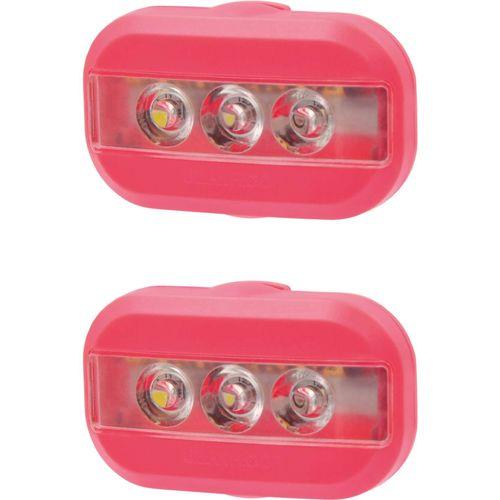 Urban Proof verlichtingsset Clip batterij kreeft rood