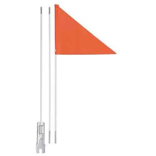 Fietsvlag oranje met fiberglas - deelbare stang