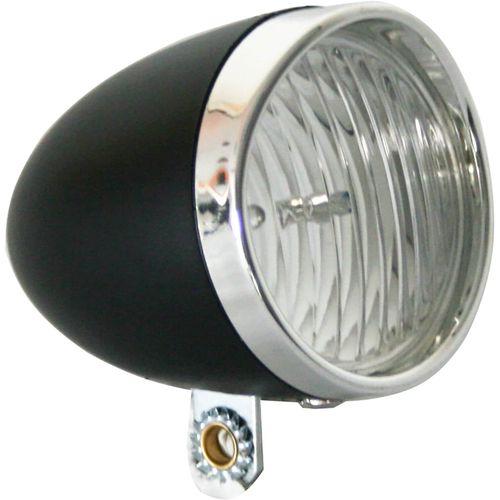 Lamp v led light 3led koplamp retro zwart
