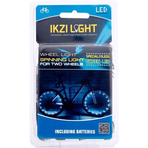 IKZI Light wiellicht Spinning light 20 led batterij groen