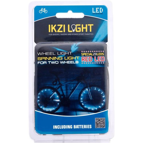 IKZI Light wiellicht Spinning light 20 led batterij rood