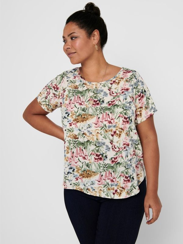 Only Carmakoma Blouse frisse bloemenprint