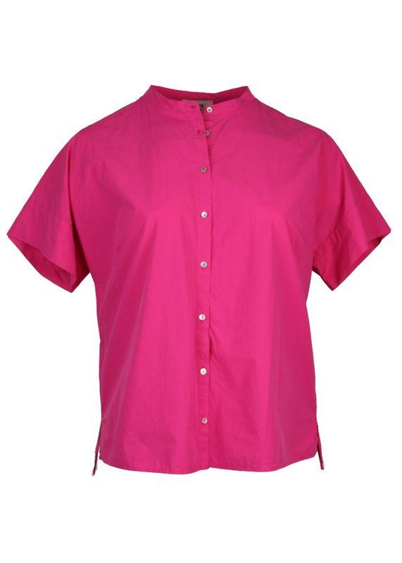 1 to 6 Blouse korte mouw roze LARISSA