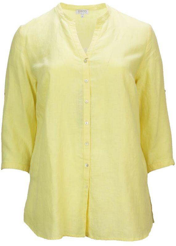 Erfo Blouse opstaande kraag geel