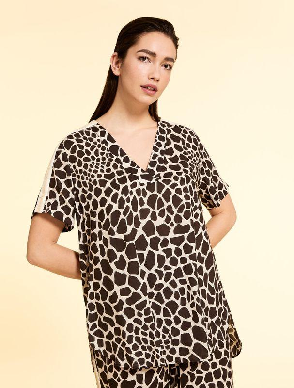 Marina Rinaldi Sport Blouse print giraffe FILARE