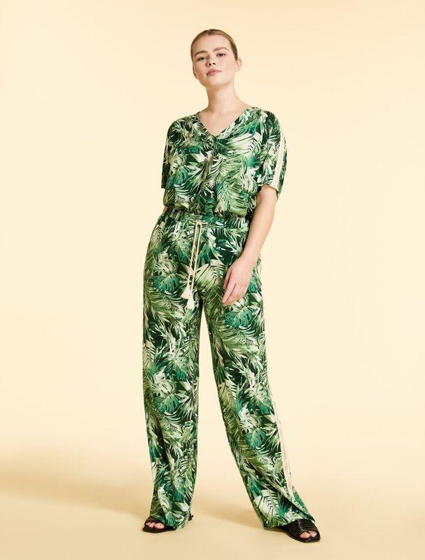 Marina Rinaldi Sport Broek print groen REBECCAS
