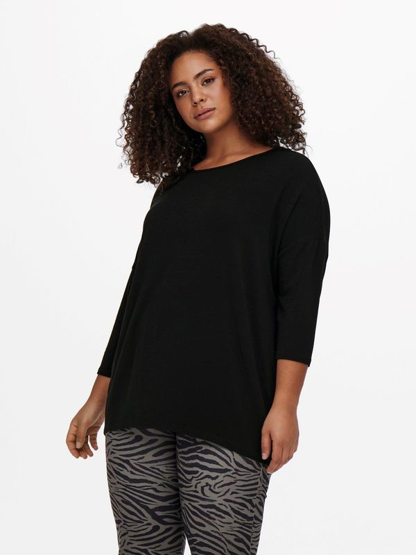 Only Carmakoma Curvy loose fit top zwart