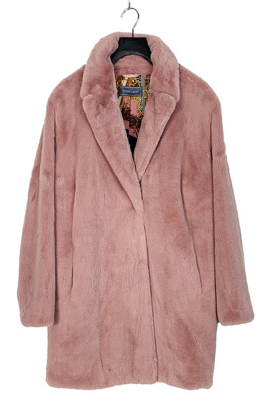 Rofa blazers Jas fake fur roze