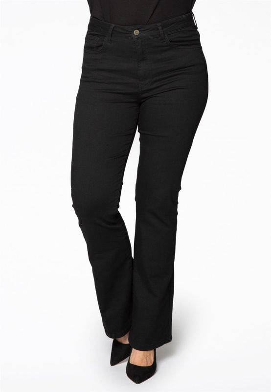 Yoek Jeans flared zwart