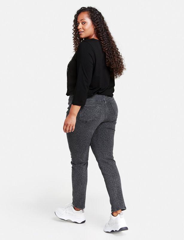 Samoon Jeans met luipaardprint BETTY