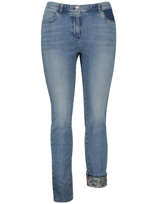 Samoon Jeans met paisley-omslag
