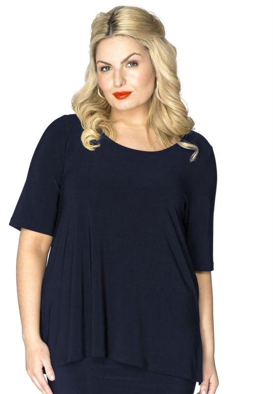 Yoek Black Label Shirt A-lijn DOLCE blauw