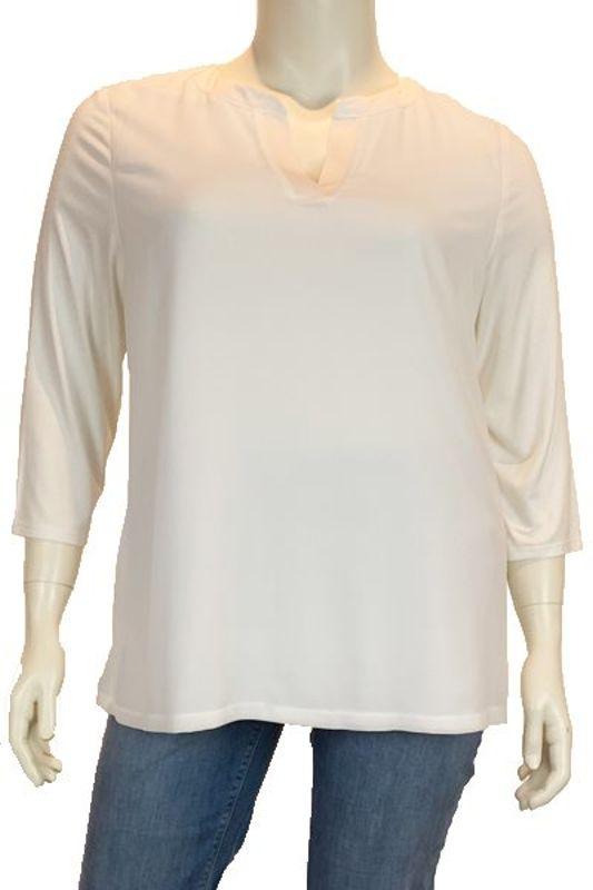 Robell Shirt V-hals lange mouw wit