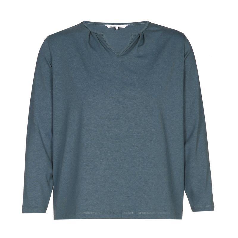 Xandres Gold Shirt V-hals petrol X-FRANSINE