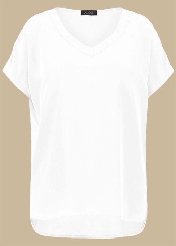 Samoon Shirt V-hals wit
